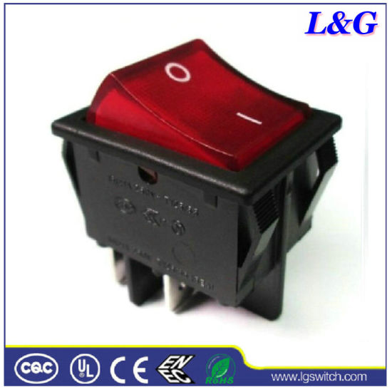 Electronical Illuminated 16A Neon on-off Rocker Switch Used in Machine