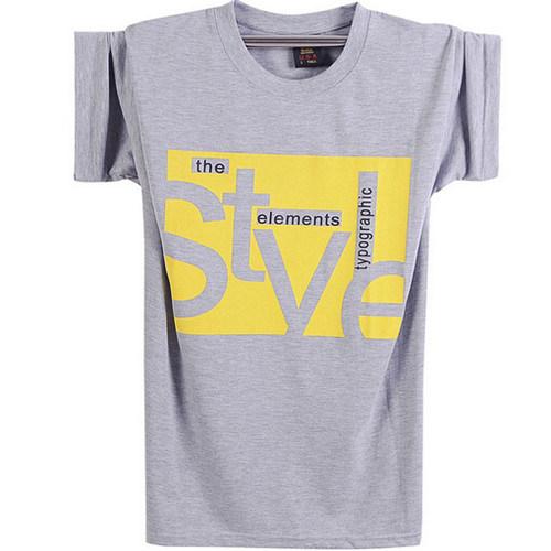 Round Neck Short Sleeve Print T-Shirt