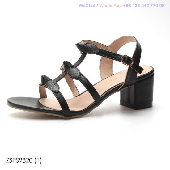 07ca08a75fe0 China Women′s Summer Fashion Open Toe Bow Block Heels Sandals Shoes ...