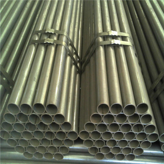 ERW Welded Carbon Black Structure Transportation Steel Pipe Tube pictures & photos
