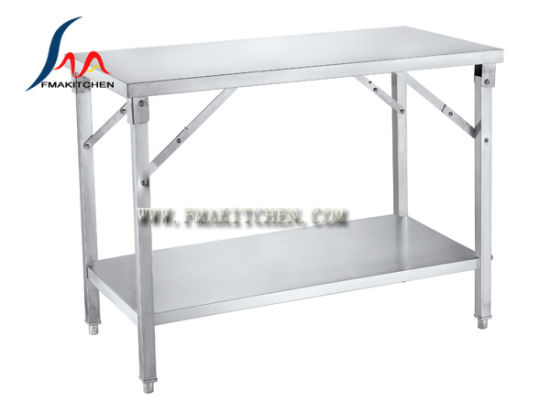 Stainless Steel Folding Table, Working Table With Folding Legs