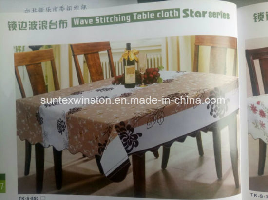 Printed PEVA Table Cloth with PP Non-Woven Backing
