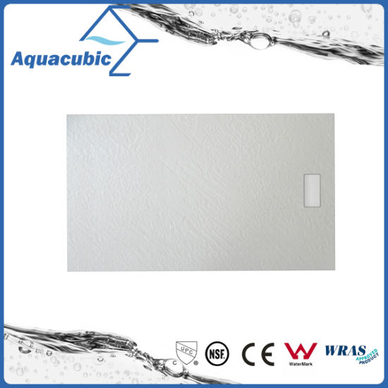 Sanitary Ware 1200*700 High Quality Wood Surface SMC Shower Base (ASMC1270W) pictures & photos