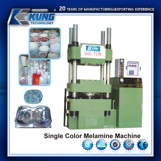China Single Color Melamine Press Machine for Tableware Making