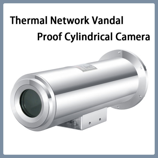 Thermal Imaging Surveillance Network Vandalproof Stainless Steel Material Cylindrical Camera