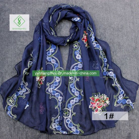 986377ccf81b0 China Hot Sale Retro Rosemary Embroidered Silk Scarf Fashion Lady ...