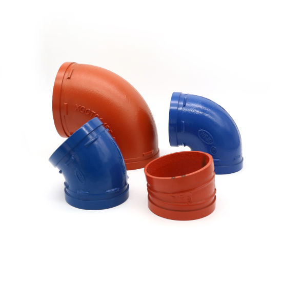 FM UL Certificated High Quality Ductile Iron Pipe Fittings Grooved Elbow
