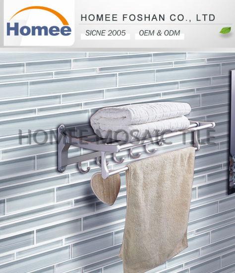 Hand Painted Bathroom Strip 4x12 Crystal Gl Subway Mosaic Tile