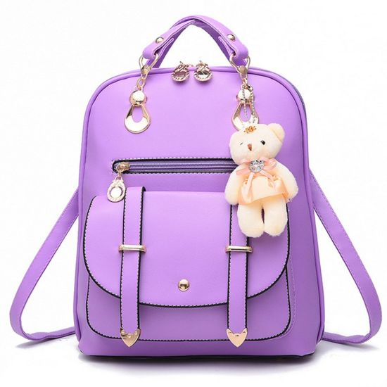 fe7e2591 China Cute Pretty Girls Fashion Shoulder PU Leather Backpack Lady ...