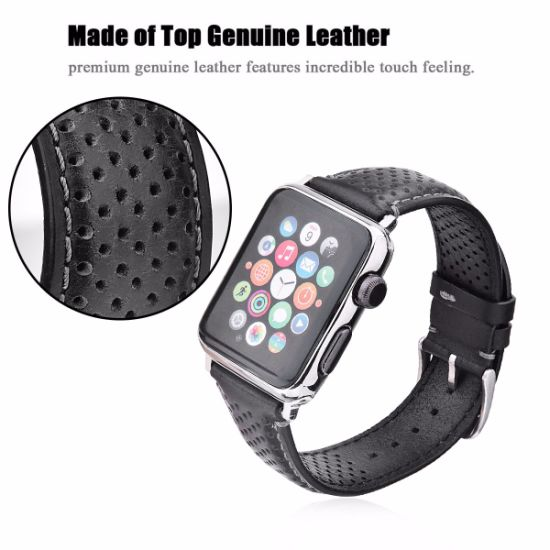 Vintage Genuine Leather Loop Replacement Strap for Apple Iwatch 42mm Band pictures & photos