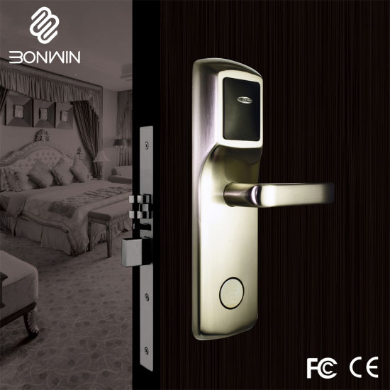 Smart Card Lever Handle Mortise Locks for Hotel/School/Office