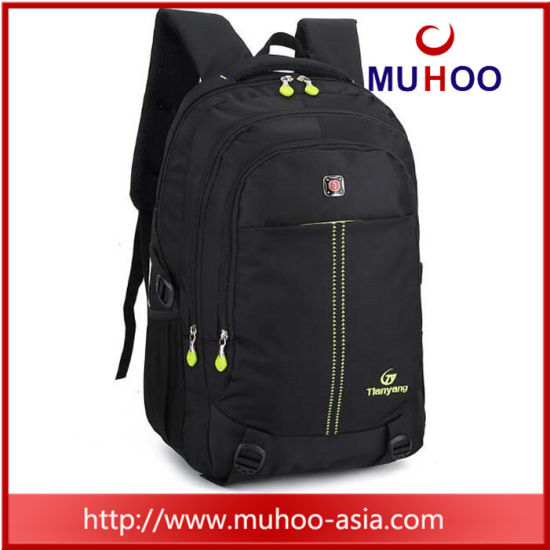 6fdc4743fd Water Resistant Black Backpack Boys School Bag for Campus pictures & photos