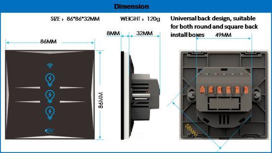 Smart Light Switch with Alexa Google Home Europe Standard
