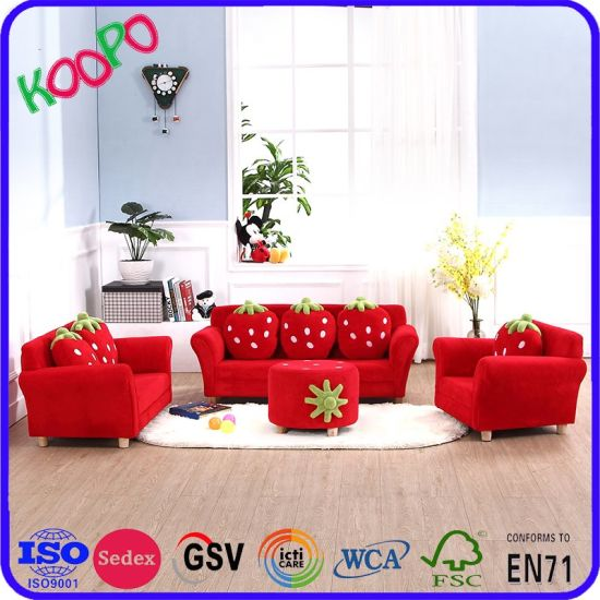 Strawberry Living Room Children Sofa And Chair With Pillows Sxbb 281 4