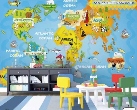 China Carton Latex Uv Printable 3d World Map Inkjet For Kids