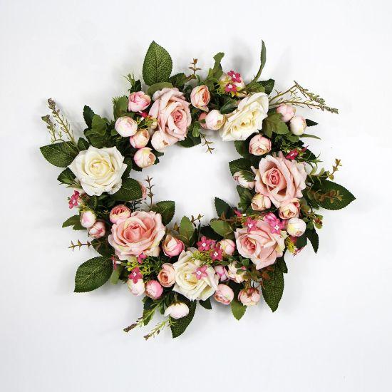 China Wholesale Beauty Floral Arrangements Wreath For Wedding Place