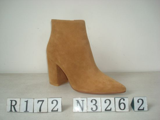 Sexy Suede Upper Leather Boot for Lady
