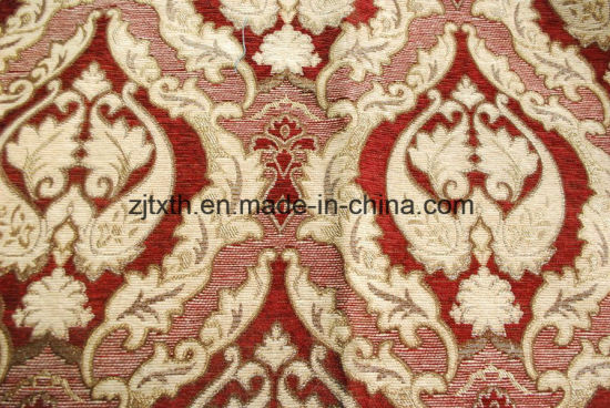 China Wholesale Luxury Flower Design Jacquard Chenille Upholstery