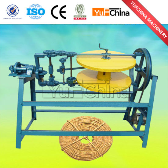 Coir Straw Rope Spinning Machine / Round Rope Braiding Machine Price pictures & photos