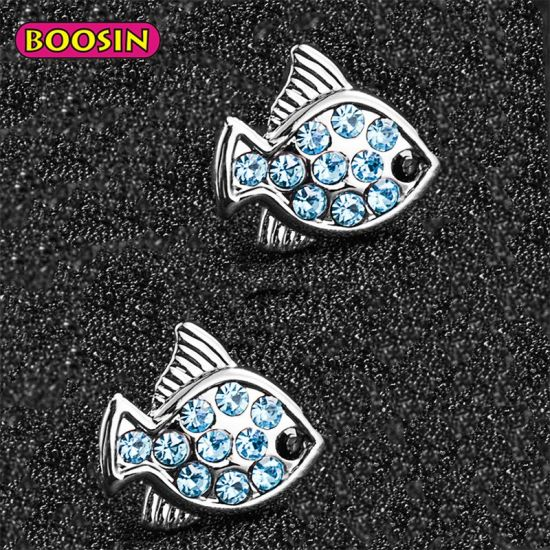 Hot Sale Silver Color Cute Little Fish Stud Earrings Amazon for Girls pictures & photos