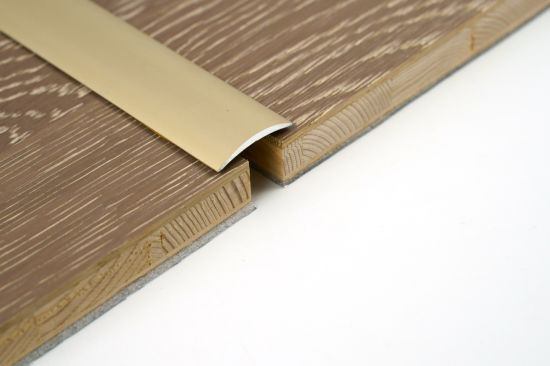 China Flexible Gold Color Floor, Curved Transition Strip For Laminate Flooring