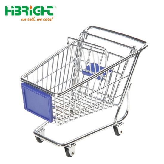 Children Metal Toy Gift Shopping Cart Mini Shopping Trolley