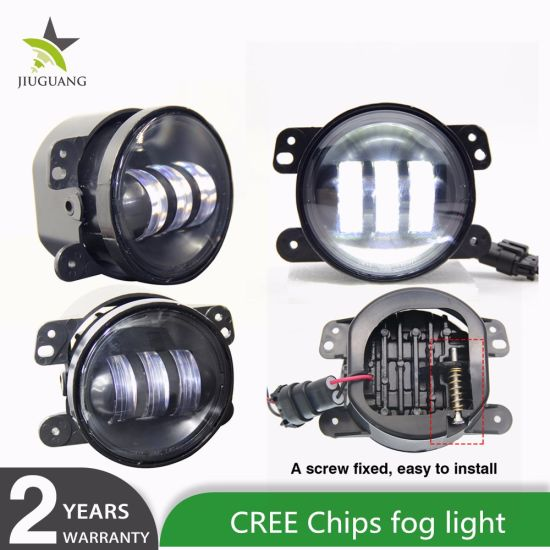 Auto Accessories Waterproof IP68 30W Wholesale Car 4 Inch LED Fog Lights for Jeep Jk Truck