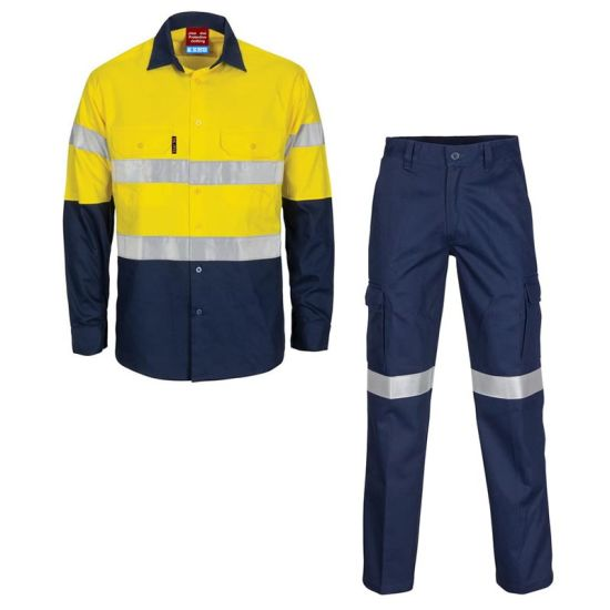 Factory OEM Engineering Painters Flameproof Waterproof Hivis Workwear with Reflective Stripes Clothes High Visible Uniform Manufacture