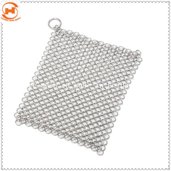 Stainless Steel Pan Pot Chainmail Scrubber