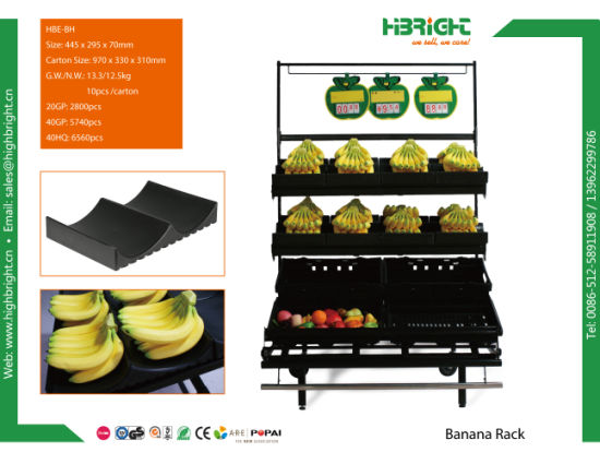 Retail Banana Display Rack Stand Table pictures & photos