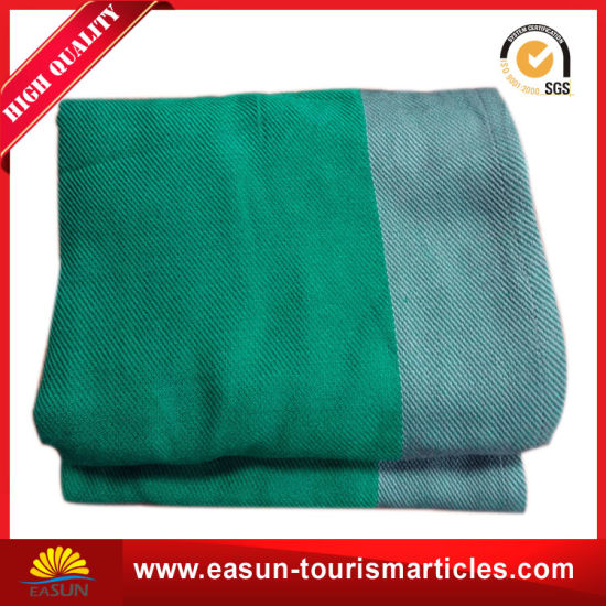 No Pilling Flame Retardant 20 Times Washing Airline Blanket pictures & photos