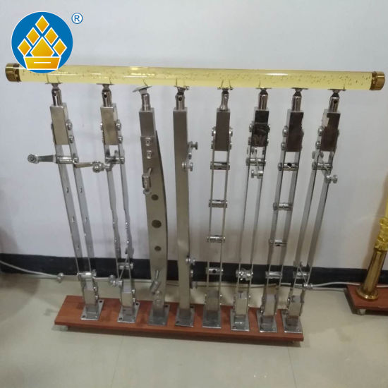 Stainless Steel Handrail Fittings Balustrade Stair Post Glass Fence Railing