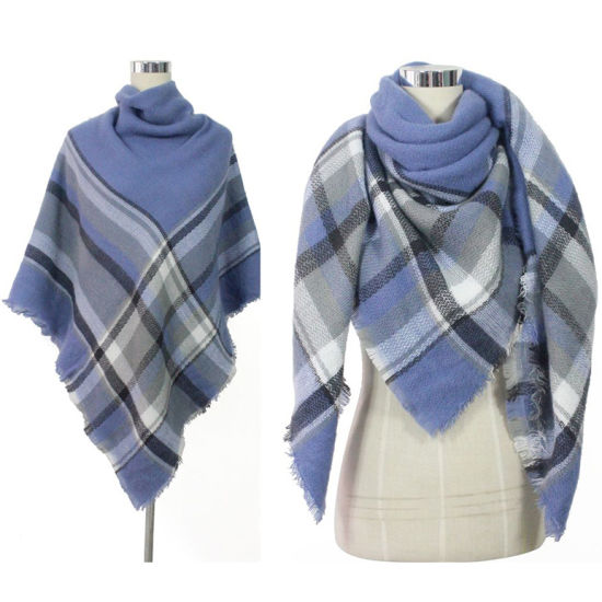 a71066fca China Square Large Oversize Winter Cashmere Plaid Blanket Scarf ...