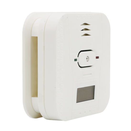 White Smart Smoke and Carbon Monoxide Alarm with Digital LCD Display Cst503