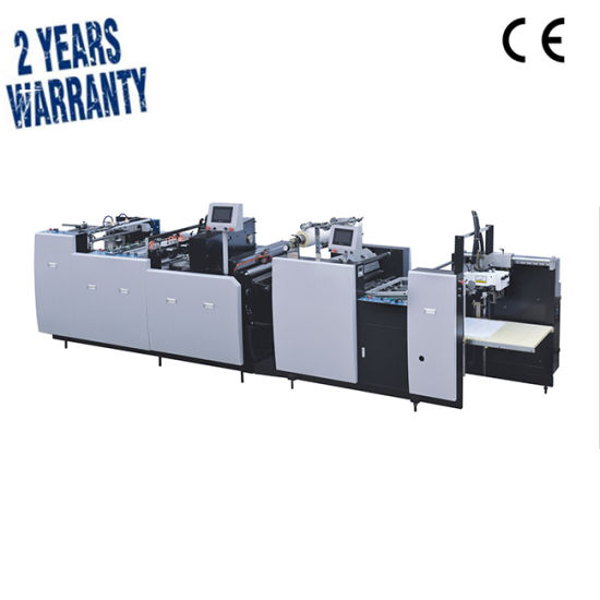 Safm-800 Full Automatic Cardboard Carton Box Aluminum Foil Plastic Flatbed Coating Gluing Thermal Film Laminating Machine