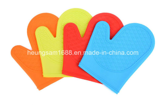 Candy Color Custom Silicone Cooking Glove Silicone Oven Glove