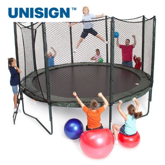 Easy to Assemble 10FT 12FT Outdoor Trampoline for Kids, Teens and Adults