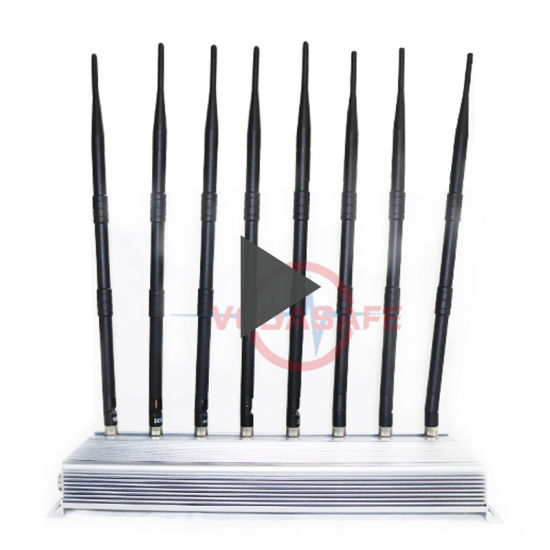 4G/3G/2g/WiFi2.4G/5g/CDMA450MHz/Wi-Fi/Bluetooth Radio Frequency Scrambler; 8 Antennas Vehicle GPS Scrambler