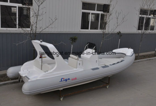 Liya 6.6m Luxury Yacht with Price Rigid Rib Speed Boat Recreational