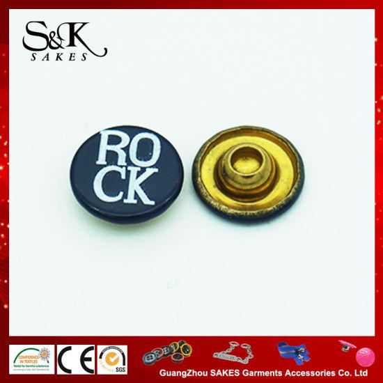 Silk Print Metal Brass Rivets of Cap Rivet Type for The Jeans