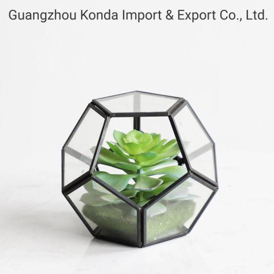 Popular Green Home Decoration Mini Artificial Plastic Succulent Bonsai Wholesale