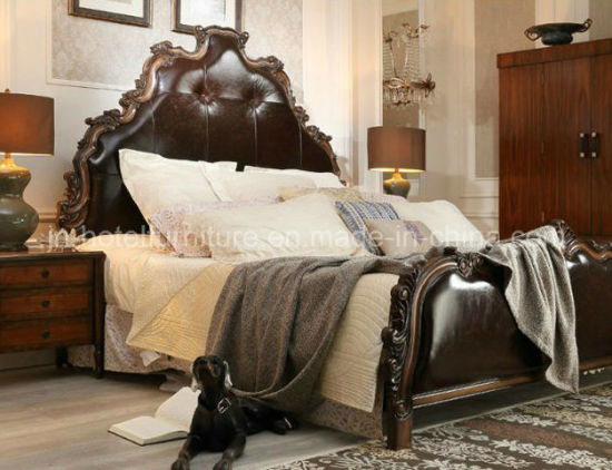 China Antique American Style Bed New Classical Home Bedroom