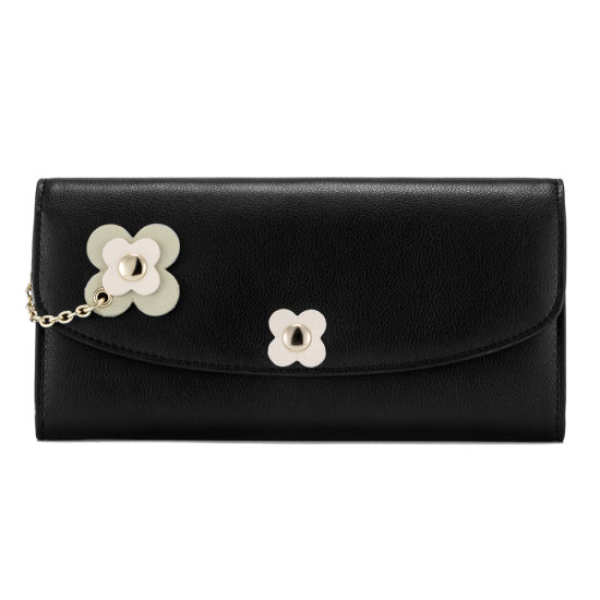 Lady Genuine Cow Leather Purse Clutch Travel Phone Wallet
