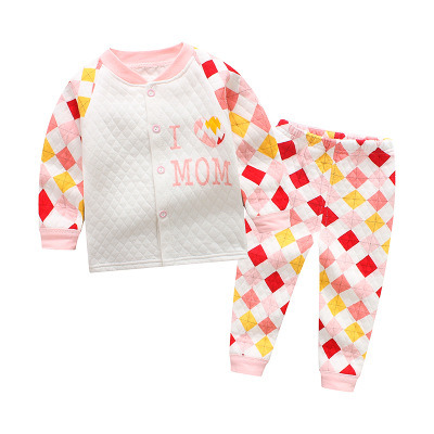 ca7c4c9f93 2018 Latest Autumn Baby Kids Pajamas Casual Homewear 100% Cotton Clothes