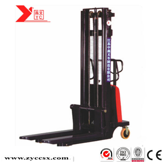 Cheap Handling Equipment Supplier 2t Semi Electric Forklift Stacker 3.5 Meters