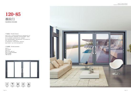 Thermal Break Australian Standard Double Glass Aluminium Window/Aluminium Glass Sliding Window