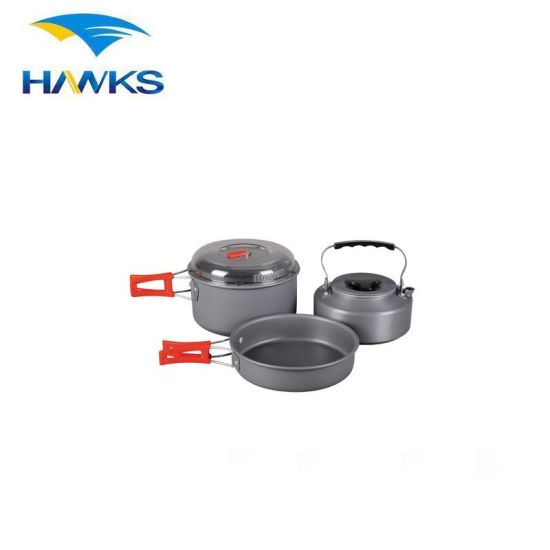 CL2C-DT1615-4 Comlom Winterial Camping Cookware and Pot Set