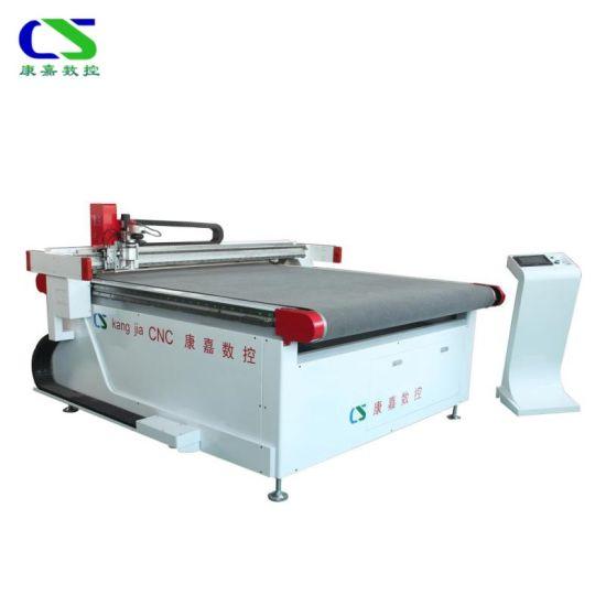 Auto Feeding CNC Vibratory Tangential Knife Leather Fabric Cutting Machine