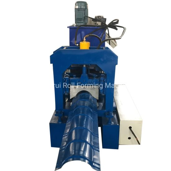 Cold Color PPGI Steel Metal Roof Ridge Cap Tile Cold Roll Top Gutter Roll Former Forming Machine with PLC Computer Control and Cheap Price ISO Certificate