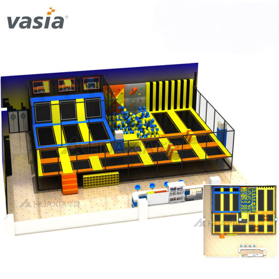 Vasia Free Jumping TUV Approved Quality Kids Economic Bungee Indoor&Outdoor Trampoline